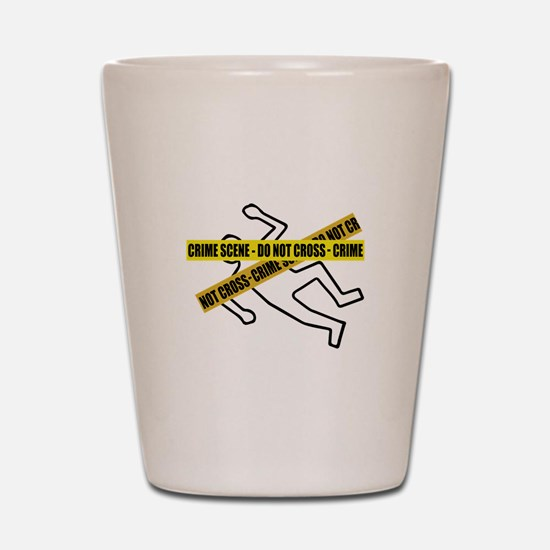 Crime Scene Tape Shot Glass