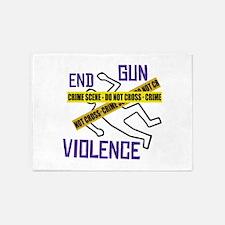 End Gun Violence 5'x7'Area Rug