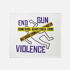 End Gun Violence Throw Blanket