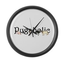 Pugaholic Large Wall Clock