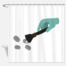 Fingerprint Brush Shower Curtain