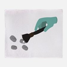 Fingerprint Brush Throw Blanket
