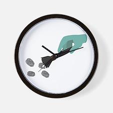 Fingerprint Brush Wall Clock