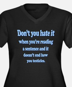 Funny Saying - Testicles! Plus Size T-Shirt