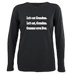 Funny grandma grammar! Plus Size Long Sleeve Tee