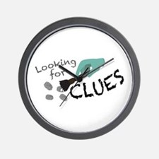 Looking For Clues Wall Clock