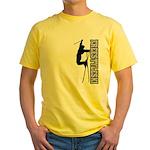 Freestyle Ski (BlackGray) Yellow T-Shirt