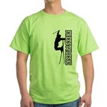 Freestyle Ski (BlackGray) Green T-Shirt