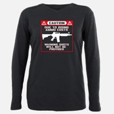 Caution: No Warning Shots! Plus Size Long Sleeve T