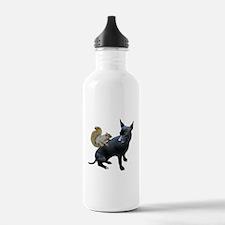 Squirrel on Dog Water Bottle