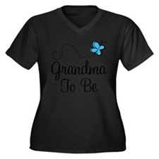 Cool First time grandma Women's Plus Size V-Neck Dark T-Shirt