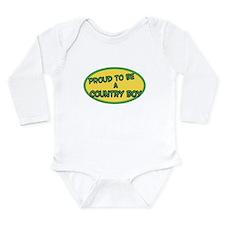 Cute Mens Long Sleeve Infant Bodysuit