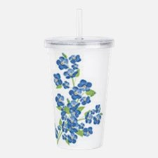 Forget me nots Acrylic Double-wall Tumbler
