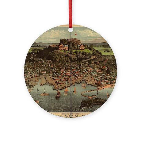 High Rock, Lynn, MA Ornament (Round)