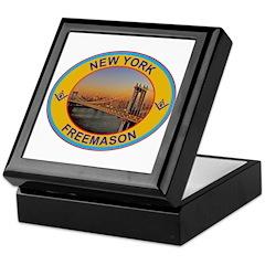 New York Freemason Keepsake Box