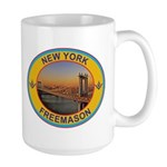 New York Freemason Large Mug