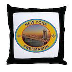 New York Freemason Throw Pillow