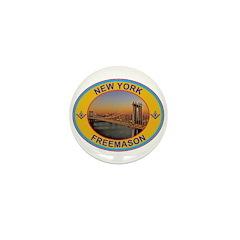 New York Freemason Mini Button