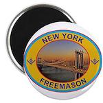New York Freemason Magnet