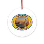 New York Freemason Ornament (Round)