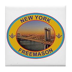New York Freemason Tile Coaster