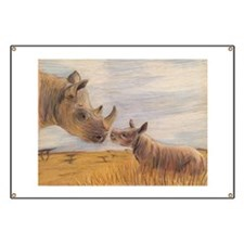 Rhino mom and baby Banner