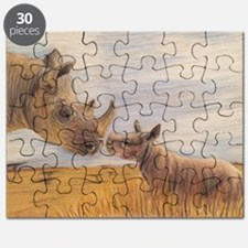 Rhino mom and baby Puzzle