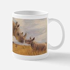 Rhino mom and baby Mugs