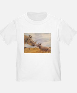 Rhino mom and baby T-Shirt