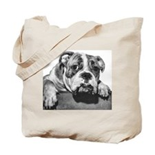 Bulldog Head Vintage-1 Tote Bag