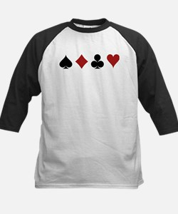Four Card Suits Baseball Jersey