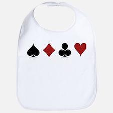 Four Card Suits Bib