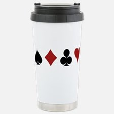 Four Card Suits Travel Mug