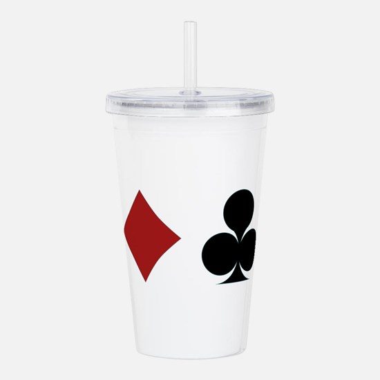 Four Card Suits Acrylic Double-wall Tumbler