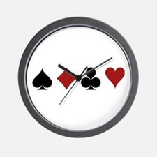 Four Card Suits Wall Clock