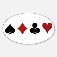 Four Card Suits Decal