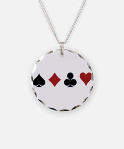 Four Card Suits Necklace