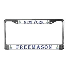 New York Masons License Plate Frame