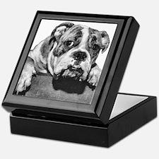 Bulldog Head Vintage-1 Keepsake Box