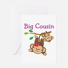 Monkeys Girl Big Cousin Greeting Card