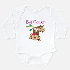 Monkeys Girl Big Cousi Long Sleeve Infant Bodysuit