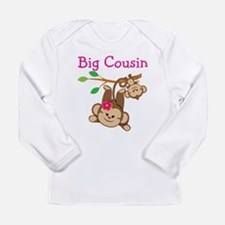 Monkeys Girl Big Cousin Long Sleeve Infant T-Shirt
