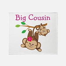 Monkeys Girl Big Cousin Throw Blanket