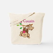 Monkeys Girl Big Cousin Tote Bag