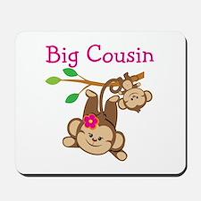 Monkeys Girl Big Cousin Mousepad
