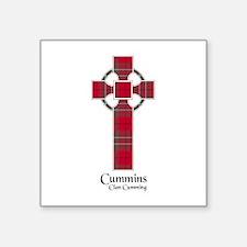 "Cross-Cummins.Cumming Square Sticker 3"" x 3"""