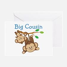 Boys Monkeys Big Cousin Greeting Card