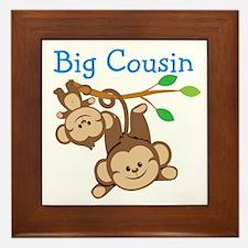 Boys Monkeys Big Cousin Framed Tile