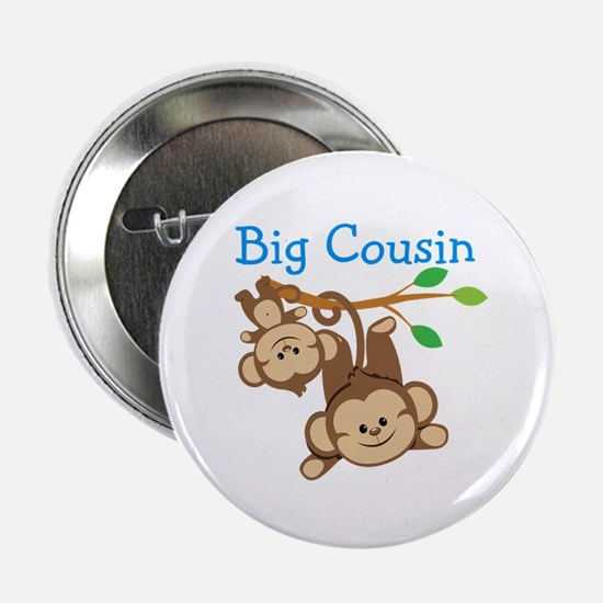 "Boys Monkeys Big Cousin 2.25"" Button"