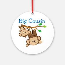 Boys Monkeys Big Cousin Round Ornament